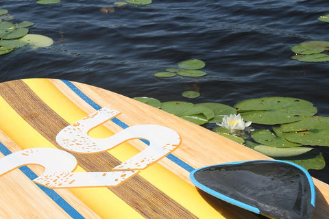 10ft 8in. Bamboo Soft Top Stand Up Paddle Board by Rave Sports