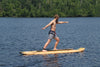 "Image of Rave Sports 10'8"" Bamboo Soft Top with paddle and leg leash"