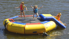 Island Hopper 10' Bounce-N-Splash padded water bouncer Water Park