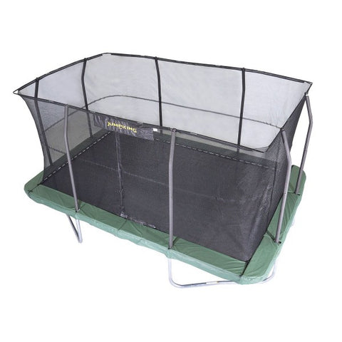 Jumpking's 10' x 15' rectangular trampoline with enclosure top view