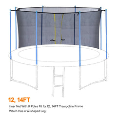 ExacMe Inner Enclosure Net with Poles for 12/14/15/16ft C-Series Trampoline 6181-C-3