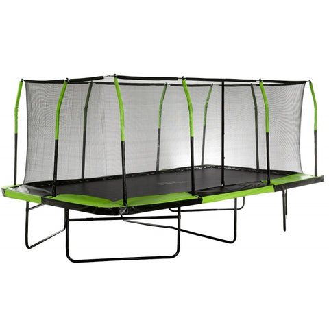 Trampoline 10ft x 17ft with Enclosure from Upper Bounce. Side view