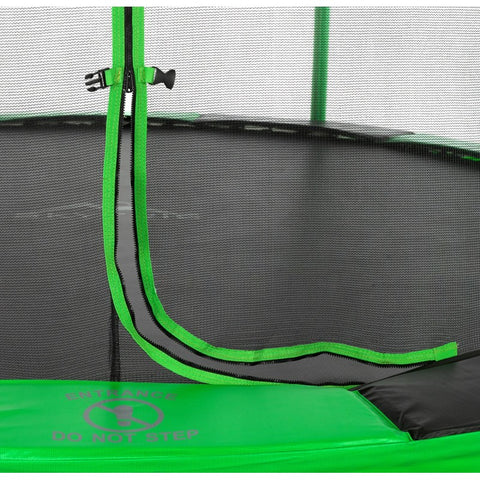 Skytric 11 FT. Trampoline with Top Ring Enclosure System close up
