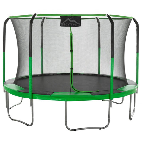 Skytric 11 FT. Trampoline with Top Ring Enclosure System green