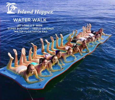 Island Hopper Water Walk Floating Foam Island & Attachment