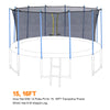 Image of ExacMe Inner Enclosure Net with Poles for 12/14/15/16ft C-Series Trampoline 6181-C-3