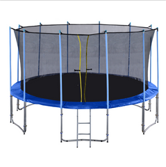 ExacMe Outdoor Trampoline 16 15 14 12 10 Foot with Intra Enclosure Net and Ladder, C10-C16