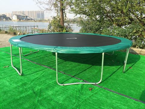 ExacME 16ft trampoline with safety pad & enclosure net included