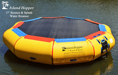 Island Hopper 17ft Bounce and Splash Water Bouncer