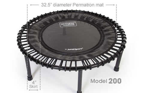 JumpSport Model 200 Rebounder Fitness Trampoline top view