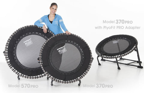 JumpSport Pro Series 350 Rebounder Fitness Trampoline  displayed