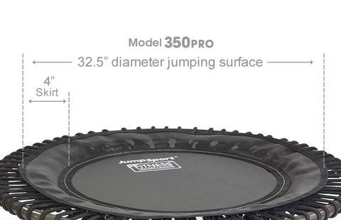 JumpSport Pro Series 350 Rebounder Fitness Trampoline close up
