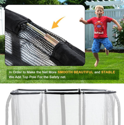 Exacme 2019 Smart Rectangle Trampoline 7x10 FT Frame with Enclosure and Jumping Detector 6184-0710