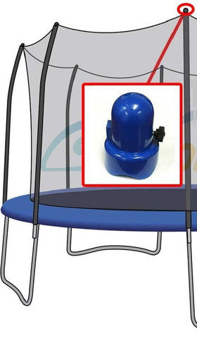 "SkyBound USA 1.5"" DIAMETER BLUE TRAMPOLINE ENCLOSURE POLE CAPS - SET OF 6"