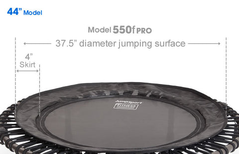 JumpSport Pro Series 550 Folding Fitness Rebounder close up