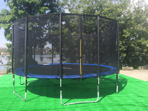 ExacMe 15 Foot Outer Trampoline 400 LBS Weight Limit with Premium Enclosure Carbon Fiber Rod, L15