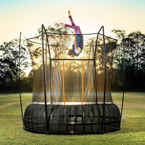 Vuly Thunder 10 foot Trampoline Innovative tool-free assembly with leaf spring technology and enclosure