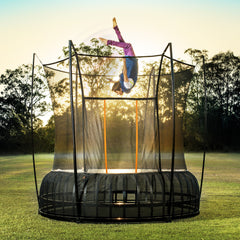 Vuly Thunder Pro 14 Ft Extra Large Trampoline Innovative tool-free assembly with leaf spring technology and enclosure