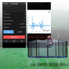 Image of ExacMe 2019 Outer Smart Trampoline, Safety Enclosure and Jumping Detector | Bluetooth Energy Calculator APP (T8-T16)