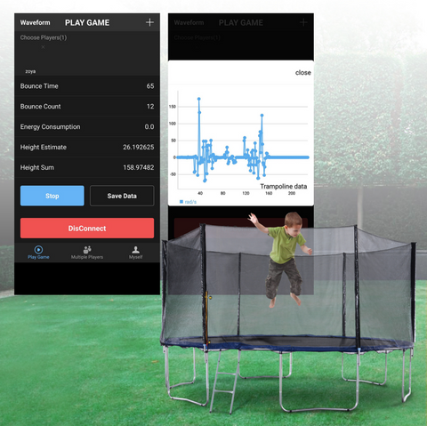 ExacMe 2019 Outer Smart Trampoline, Safety Enclosure and Jumping Detector | Bluetooth Energy Calculator APP (S14 S15)