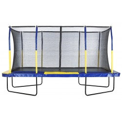 Rectangular Upper Bounce 9ft x 15ft Trampoline with enclosure