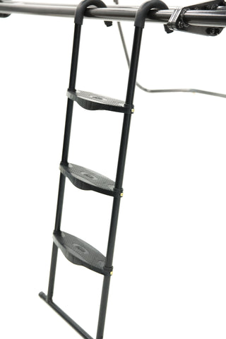 Universal SkyBound Adjustable ladder with 3 steps black