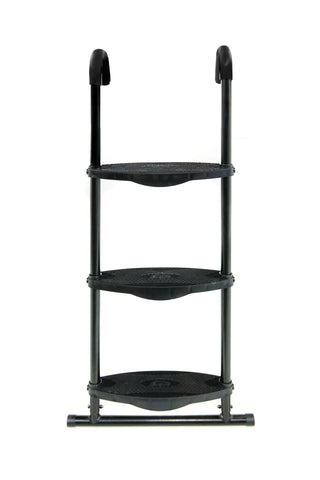 Universal SkyBound Adjustable ladder with 3 steps black front view