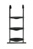 Image of Universal SkyBound Adjustable ladder with 3 steps black front view