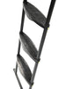 Image of Universal SkyBound Adjustable ladder with 3 steps black side view