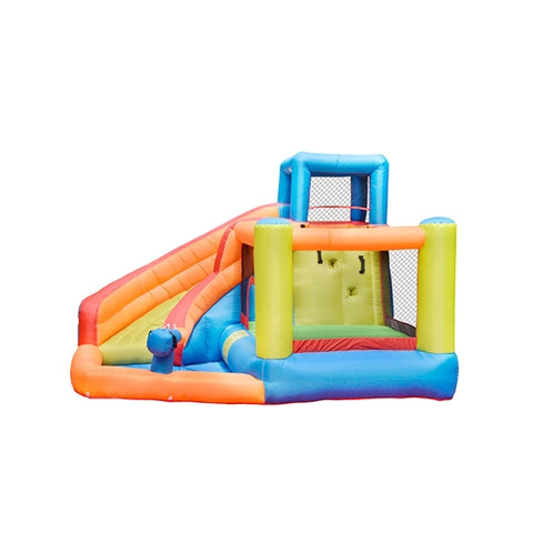 Aleko Outdoor Inflatable Bounce House with Water Sprayer and Splash Pool - Multi Color