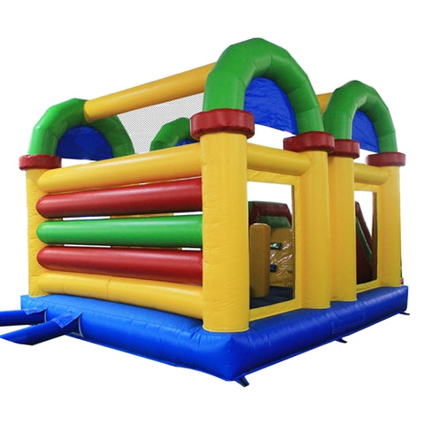 Aleko Commercial Grade Open Roof Inflatable Bounce House with Slide