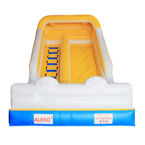 Bounce House with Blower - Blue, Yellow and White by Aleko  front