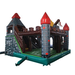 Aleko Commercial Grade Outdoor Inflatable Medieval Castle Bounce House with Blower
