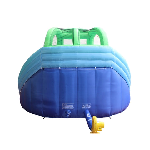 Commercial Grade Inflatable Dual Water Slide Bounce House with Splash Pool and Blower by Aleko    rear