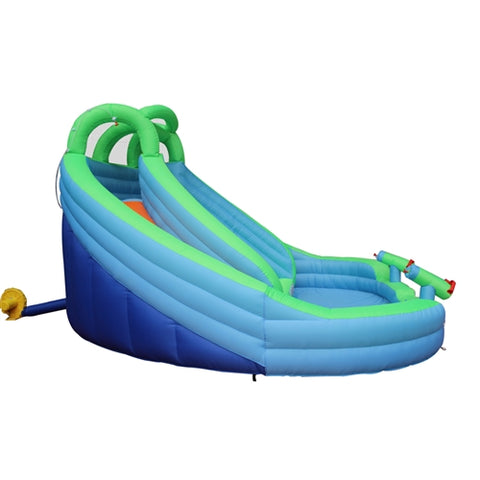 Aleko Commercial Grade Inflatable Dual Water Slide Bounce House with Splash Pool