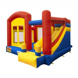 Commercial Grade Inflatable Playground Bounce House with Slide and Blower by Aleko  front