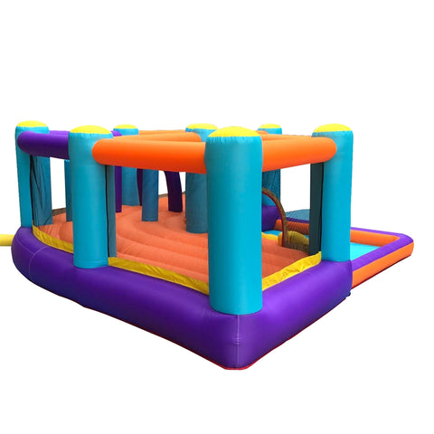 Aleko Extra Large Inflatable Playtime Bounce House with Splash Pool and Slide