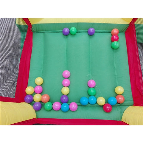 Commercial Grade Inflatable Fun Slide Bounce House with Ball Pit by Aleko ball and slide