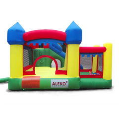 Image of Aleko Commercial Grade Inflatable Fun Slide Bounce House with Ball Pit