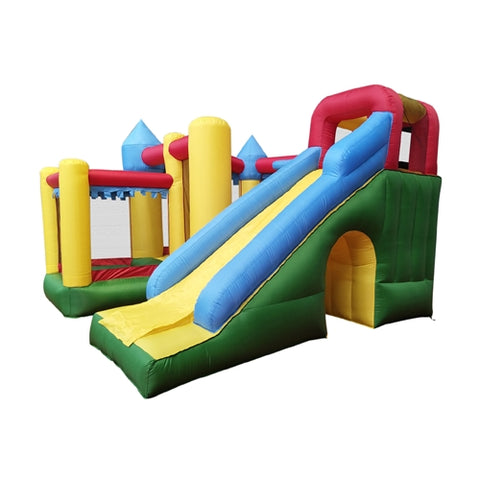 Commercial Grade Inflatable Fun Slide Bounce House with Ball Pit by Aleko side view