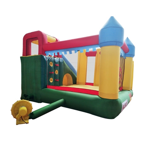 Commercial Grade Inflatable Fun Slide Bounce House with Ball Pit by Aleko free blower