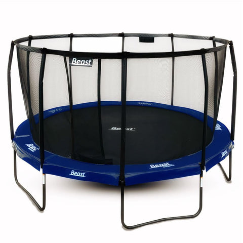 Beast 15 ft Trampoline (BLUE) with Premium Enclosure | NO WEIGHT LIMIT | FREE Ladder