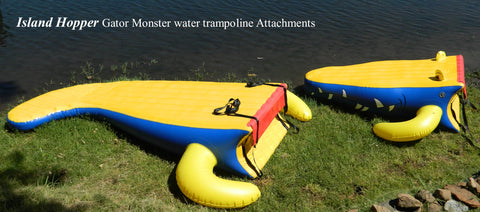 Island Hopper 13′ Gator Monster Water Bouncer Water Park