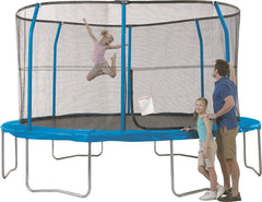 13ft Round Trampoline with Enclosure System  by JumpKing