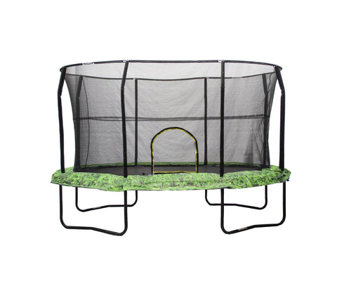 Oval Trampoline & Enclosure 8x12ft with graphic pad by JumpKing