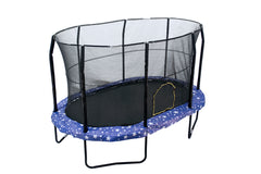 Oval 8x12ft JumpKing Rectangular Trampoline with Full Enclosure