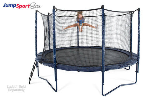 Jump Sport 14ft Elite trampoline with enclosure stage bounce