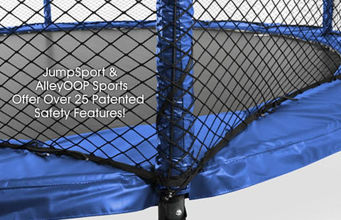 JumpSport 12FT Power Bounce Trampoline with Safety Enclosure Net