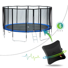 Exacme 15 Foot Smart Trampoline 400 LBS Weight Limit, Upgraded Carbon Fiber Support Pole with Jumping Detector | Bluetooth Energy Calculator APP (L15)