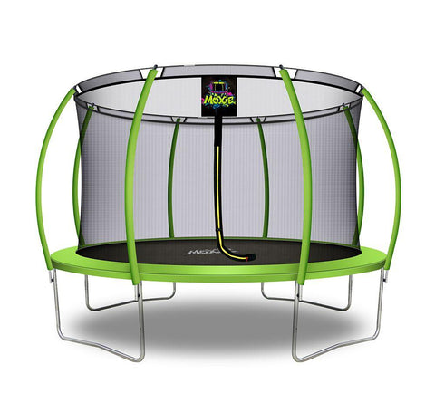 Moxie™ 12 FT Pumpkin-Shaped Outdoor Trampoline Set with Premium Top-Ring Frame Safety Enclosure